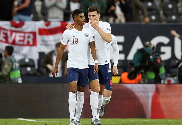 Marcus Rashford and Harry Maguire