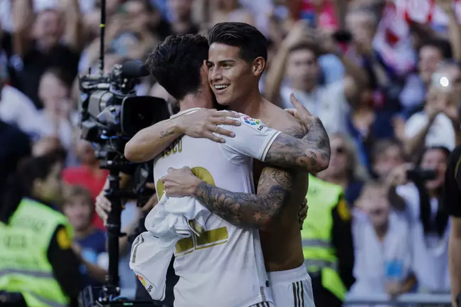 Isco and James Rodriguez